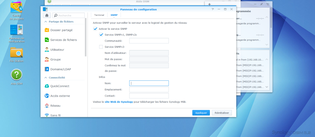 Monitorer une station de disque Synology